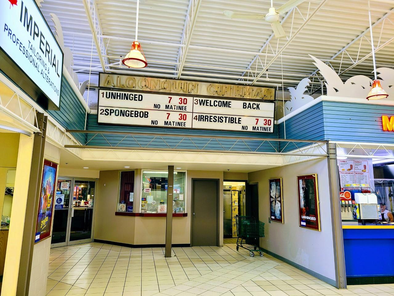 Algonquin Cinemas in Pembroke opens tomorrow, Troyes Cinemas in Petawawa open